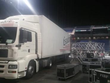 transporte de espectáculos